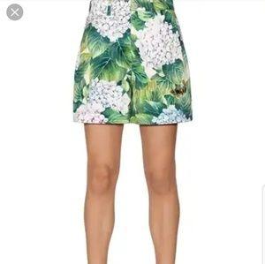 Dolce gabbana hydrangea cotton denim shorts